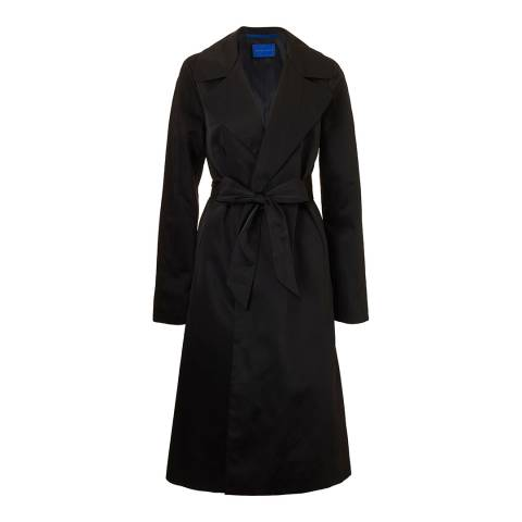 Winser London Black A-line Long Trench Coat
