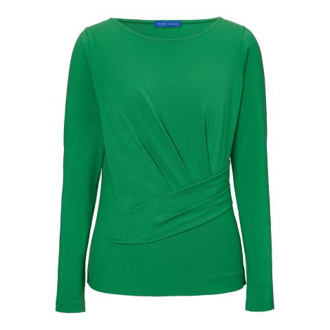 Winser London Emerald Draped Jersey Top