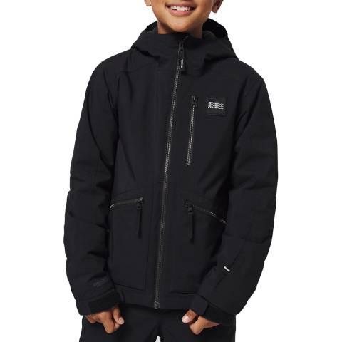 O'Neill Boys Black Out Textured Ski Jacket