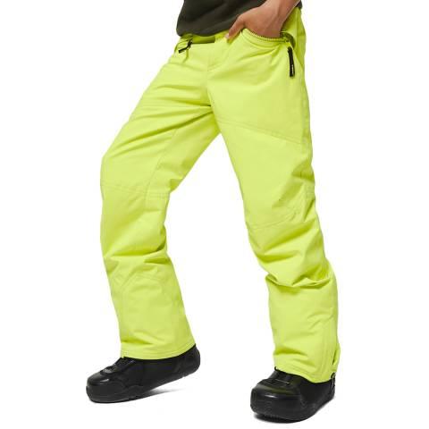 O'Neill Boys Lime Punch Anvil Ski Pants