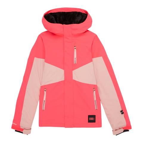 O'Neill Girls Neon Flame Coral Ski Jacket