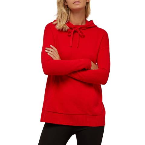 N°· Eleven Red Cashmere Blend Hoodie