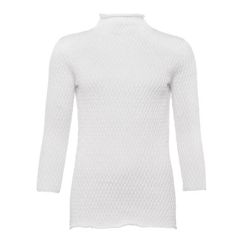 French Connection White Mona Mozart Jumper