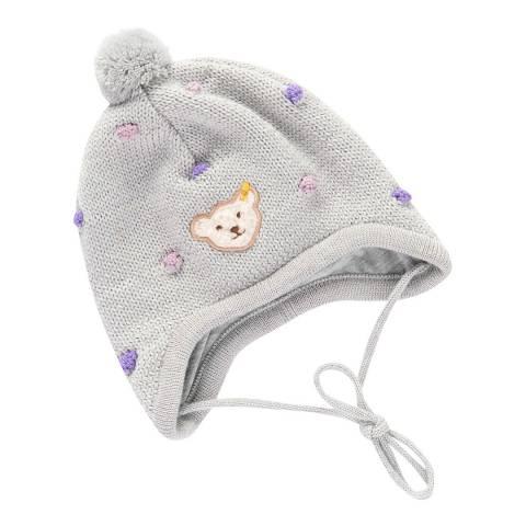 Steiff Grey Polka-Dot Hat
