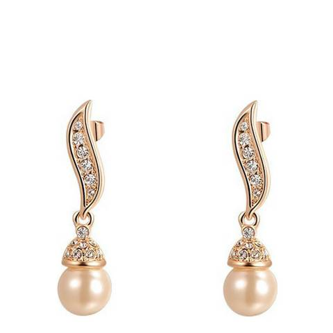 Ma Petite Amie Rose Gold Plated Pearl Earrings