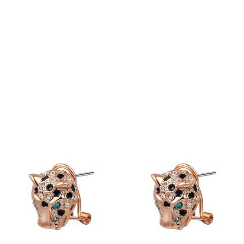 Ma Petite Amie Rose Gold Plated Leopard Earrings