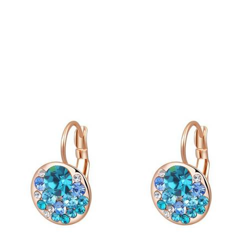 Ma Petite Amie Rose Gold Plated Sapphire Clip Earrings