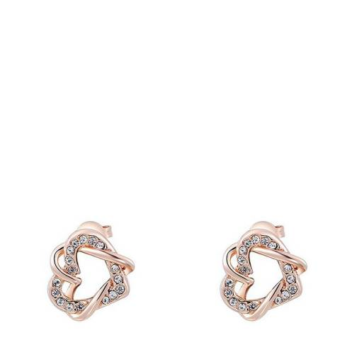 Ma Petite Amie Rose Gold Plated Double Heart Earrings
