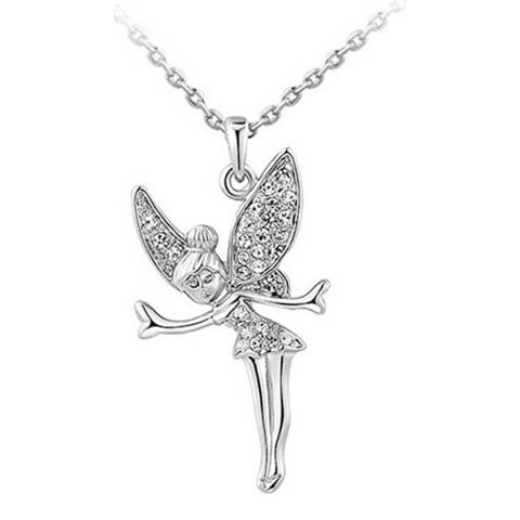 Ma Petite Amie Platinum Plated Angel Wings Necklace