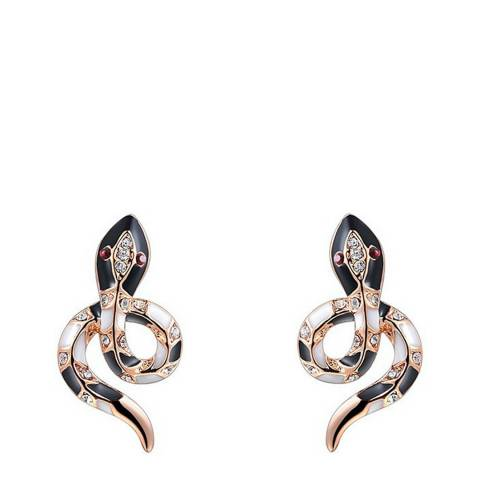 Ma Petite Amie Rose Gold Plated Snake Earrings