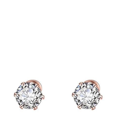 Stephen Oliver 18K Rose Gold Plated Zirconia Stud Earrings