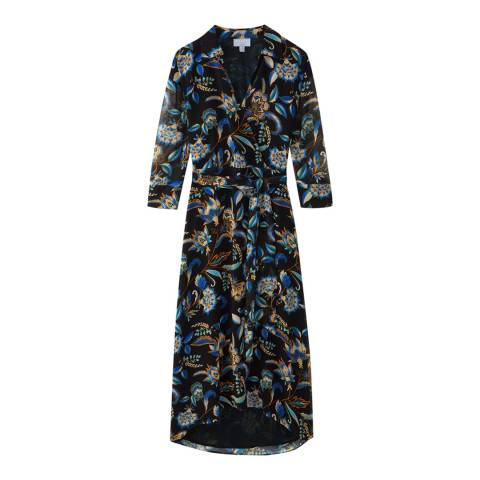 Pure Collection Multi Opulence Printed Collared Dress