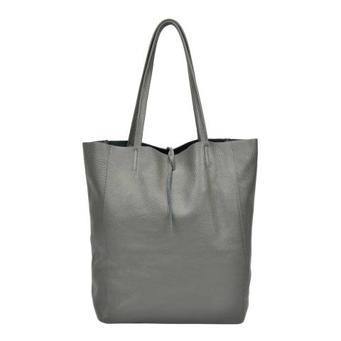 Sofia Cardoni Grey Leather Shopper Bag