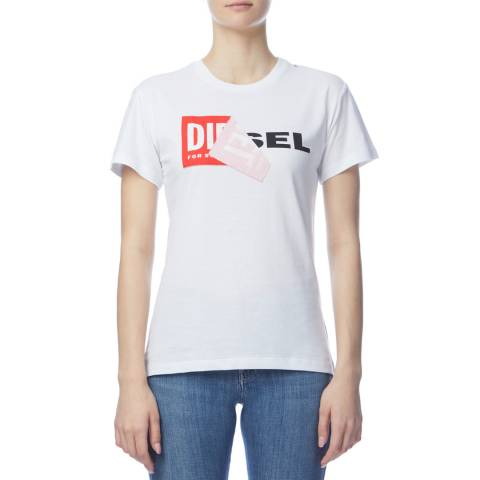 Diesel White Sully Cotton T-Shirt