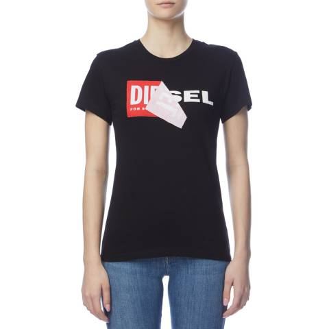 Diesel Black Sully Cotton T-Shirt