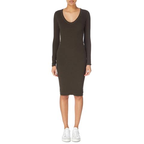 James Perse Scoop Neck Side Panel Dress