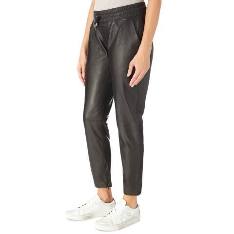 Muubaa Black Malaxis Leather Trousers
