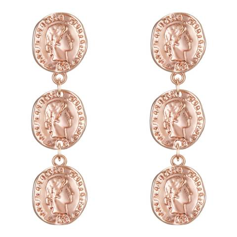 Iconic Collection Rose Gold Coin Earrings
