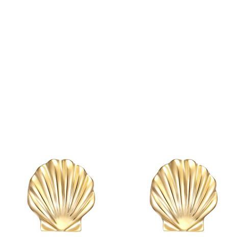 Iconic Collection Gold Shell Earrings