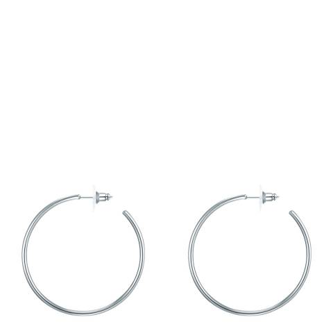 Iconic Collection Silver Hoop Earrings
