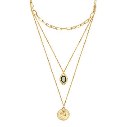 Iconic Collection Gold Three Strand Layer Necklace