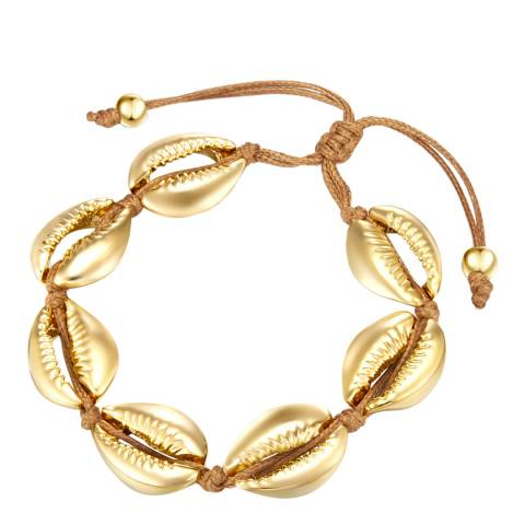 Iconic Collection Brown/Gold Shell Bracelet