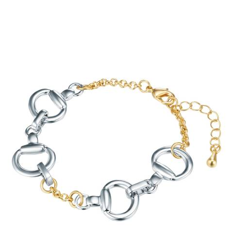 Iconic Collection Silver/Gold Link Bracelet