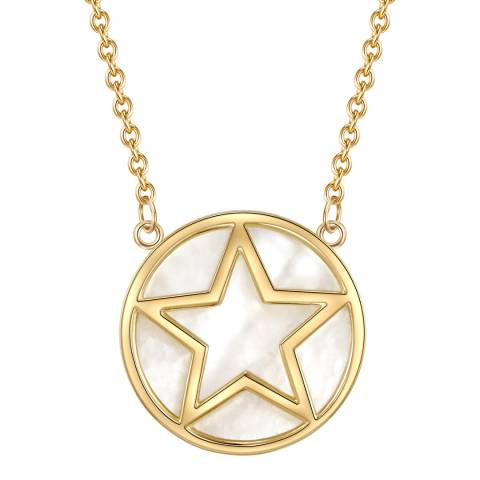 Lindenhoff Gold Pearl Star Necklace