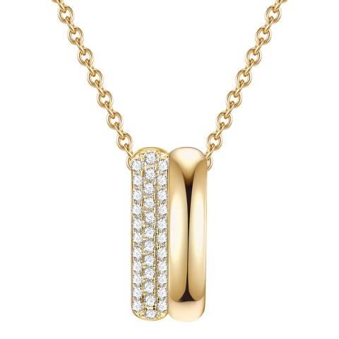 Lindenhoff Gold Crystal Bar Necklace