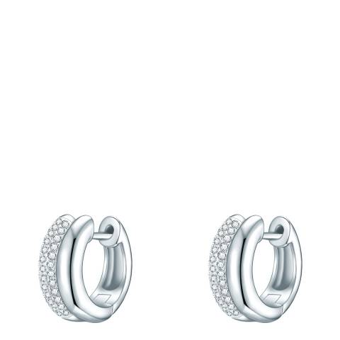 Lindenhoff Silver Crystal Hoop Earrings