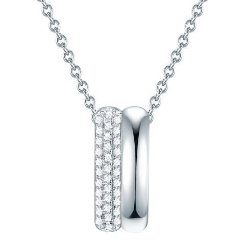 Lindenhoff Silver Crystal Bar Necklace