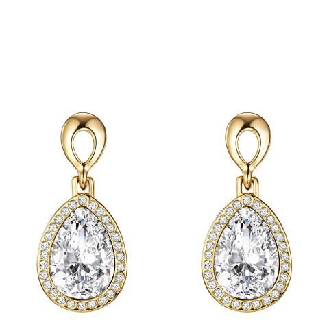 Saint Francis Crystals Gold Crystal Earrings