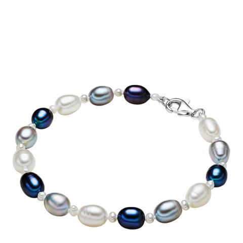 Yamato Pearls White/Violet Blue/Grey Pearl Bracelet