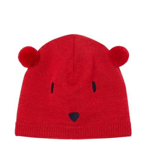 Petit Bateau Red Beanie Hat
