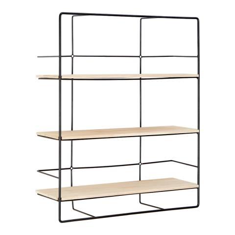 Premier Housewares Brixton 3 Layer Shelf, Wall Mounted, Metal