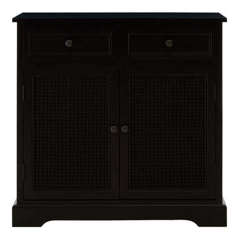 Premier Housewares Heritage Wooden Sideboard, Black Finish, 2 Drawers/2 Doors