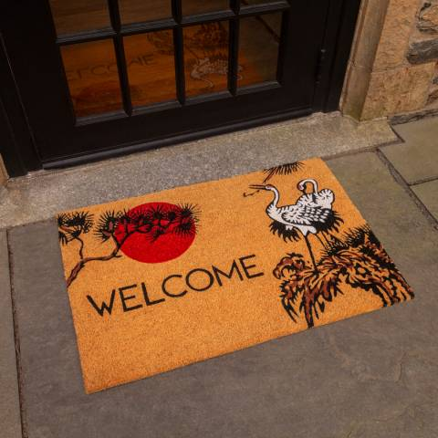 Entryways V&A Museum Cranes Coir Doormat 45x75cm
