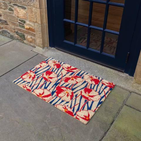 Entryways V&A Museum Poppy Field Coir Doormat 60x90cm
