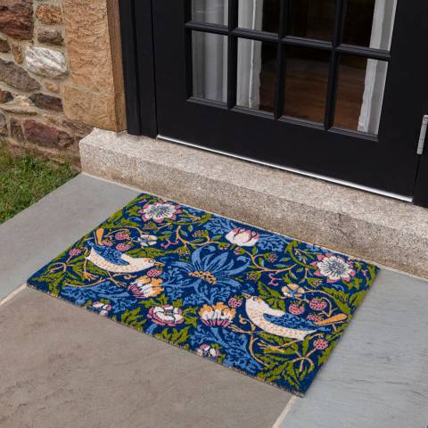 Entryways V&A Museum Strawberry Thief Coir Doormat 60x90cm