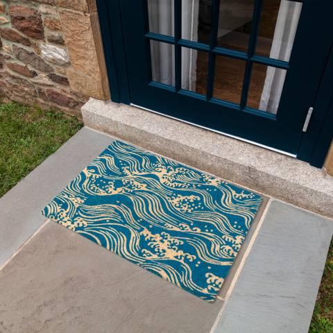 Entryways V&A Museum Waves Coir Doormat 45x75cm