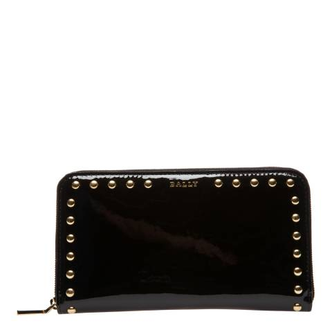 BALLY Black Trosvenor Zip Around Purse