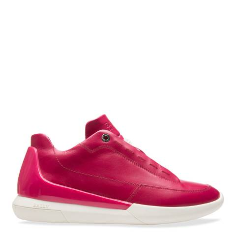 BALLY Bright Pink Avryl Leather Sneaker