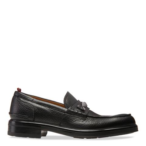 BALLY Black Modar Leather Loafer