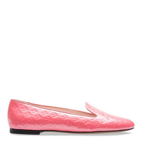 BALLY Pink  Pasteque Patent Leather Slipper