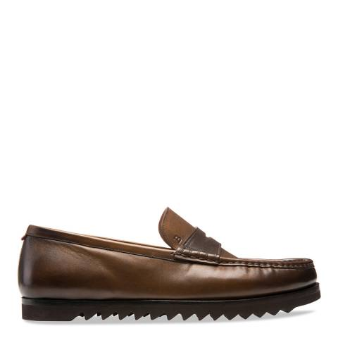 BALLY Brown Noley Penny Loafer