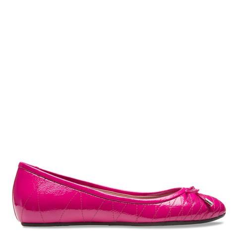 BALLY Pink Brianta Leather Ballerina