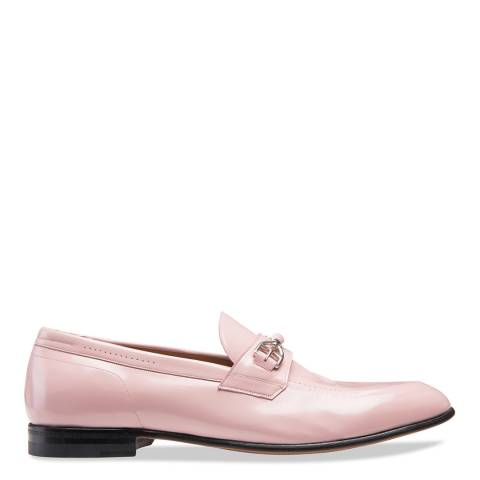 BALLY Dusty Pink Dealla Leather Moccassin