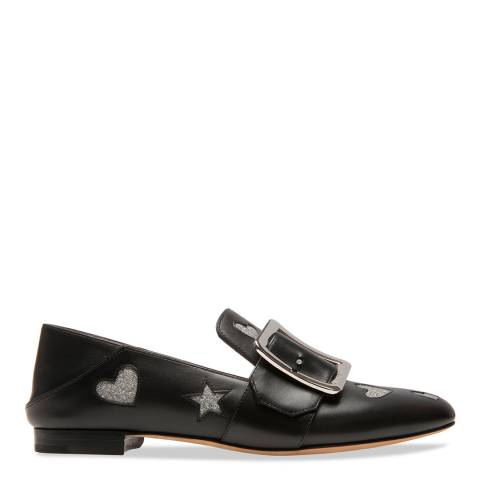 BALLY Black Leather Janelle Hearts Pump