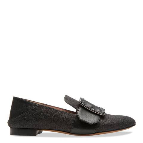 BALLY Black Janelle Shimmery Loafers