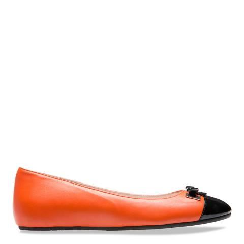 BALLY Orange & Black Sofye Ballerinas